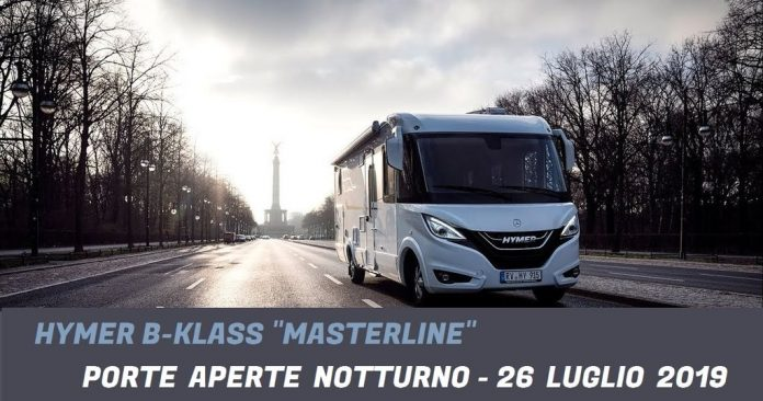 Hymer BKlass Masterline porte aperte notturno Italia VR