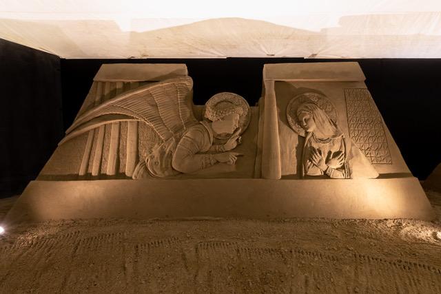 A Lignano Sabbiadoro il tradizionale Presepe di sabbia