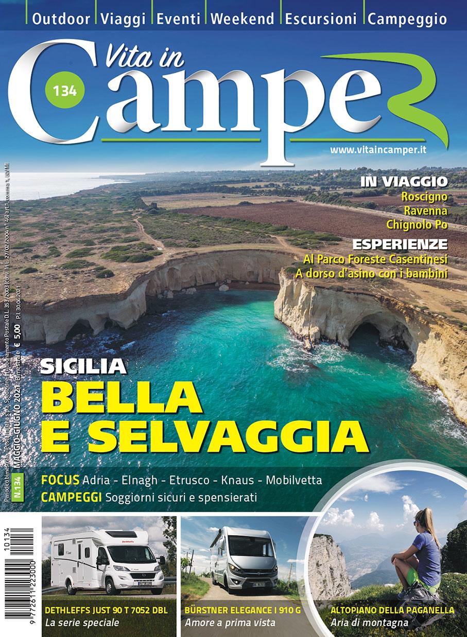 Copertina Vita in Camper 134