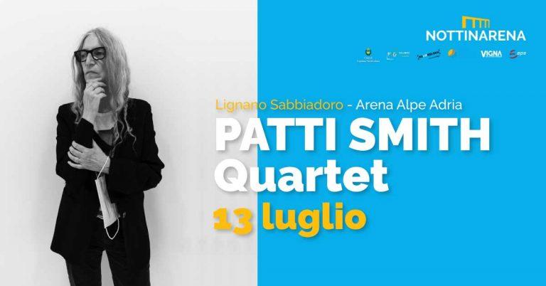 LIGNANO, una estate di concerti! NOTTINARENA apre con Patti Smith