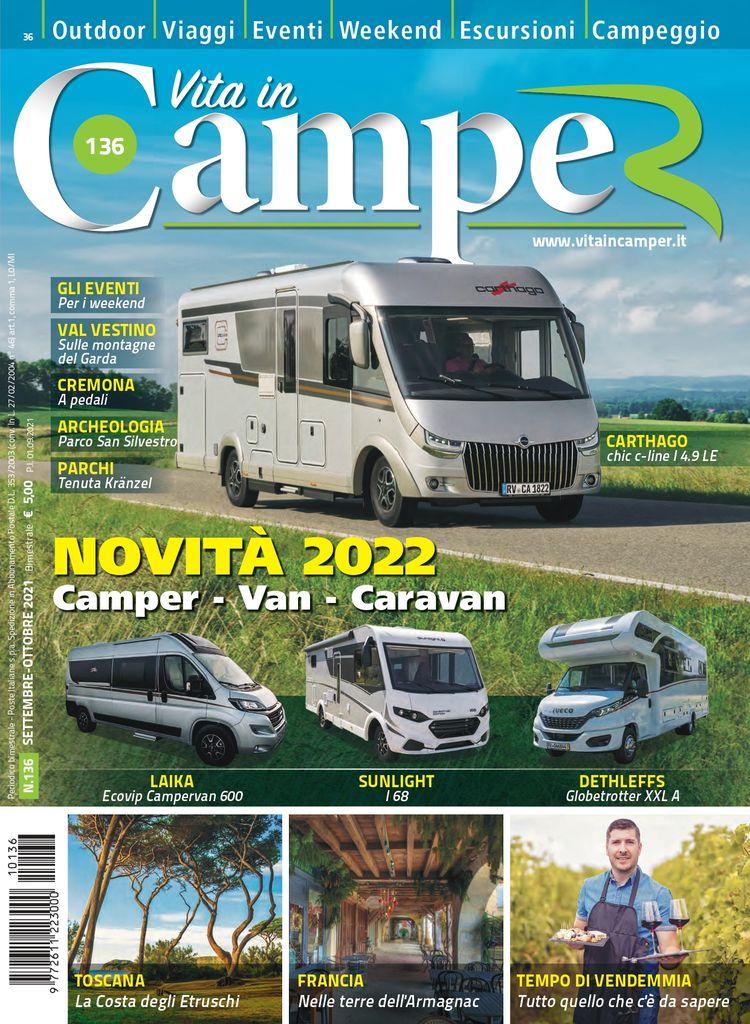 Copertina Vita in Camper 136